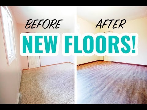 Rental Property Renovation | Carpet to Vinyl Flooring Transformation