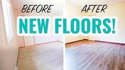 Rental Property Renovation   Carpet to Vinyl Flooring Transformation