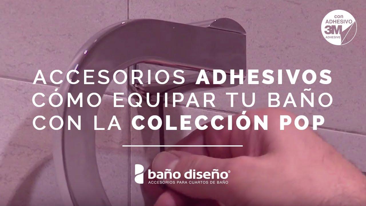 C mo instalar accesorios de ba o adhesivos pop ba o for Accesorios para duchas de bano