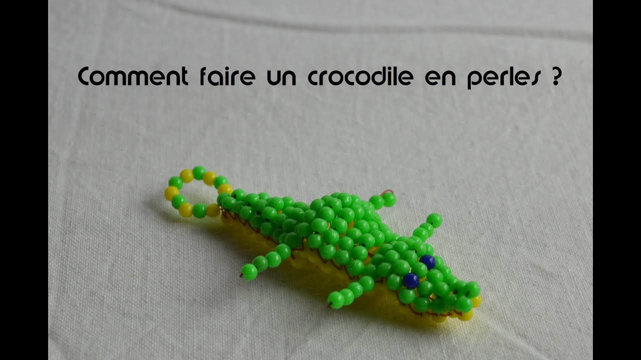comment faire un crocodile en perles youtube. Black Bedroom Furniture Sets. Home Design Ideas