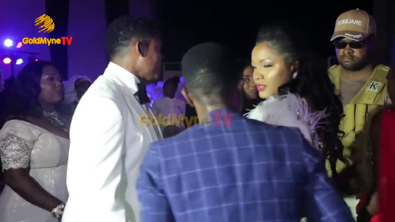 OMOTOLA JALADE'S GRAND ARRIVAL AT HER 40TH BIRTHDAY