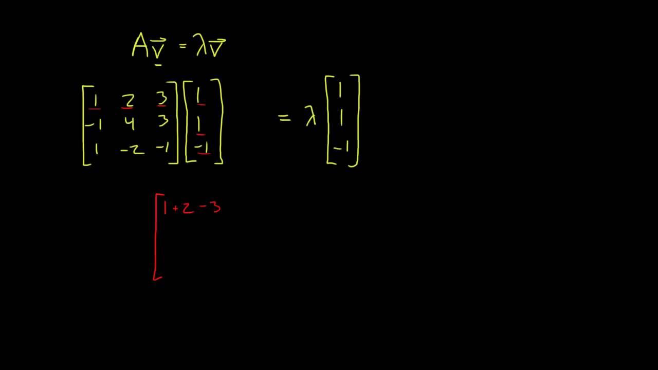 Lineær Algebra - Egenverdi og egenvektor 1