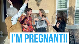 TELLING FRIENDS + FAMILY I'M PREGNANT!!