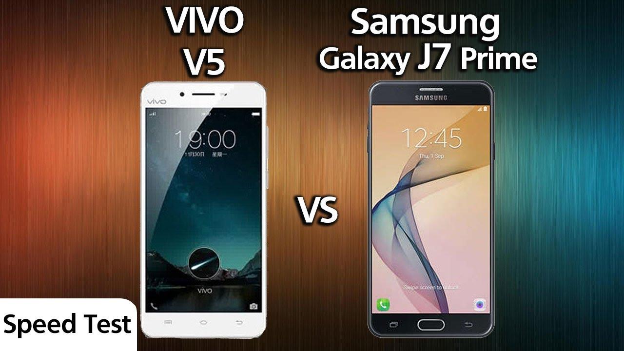 Vivo V5 Vs Samsung J7 Prime Speed Test Youtube