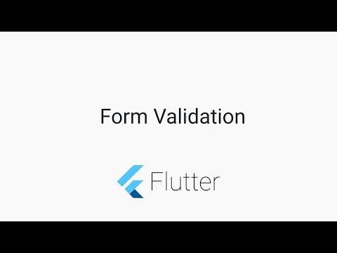 Flutter Tutorials - Form Validation - YouTube