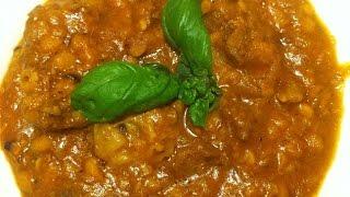 Lammcurry mit gelben Linsen auf indische Art