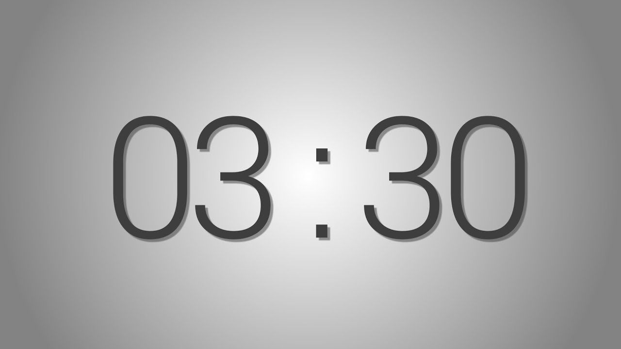 3 minutes 30 seconds countdown timer beep at the end simple