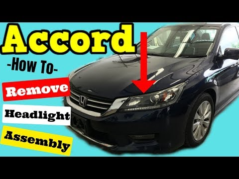2013-2015 Honda Accord How to Remove Headlight Assembly Removal Install Replace