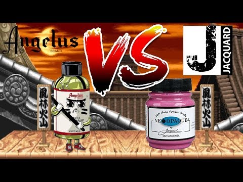 🎨Angelus Paint VS Jacquard🎨 I Flexibility & Durability test! Which is best?