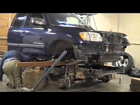 Toyota pickup frame replacement w/o removing engine/trans