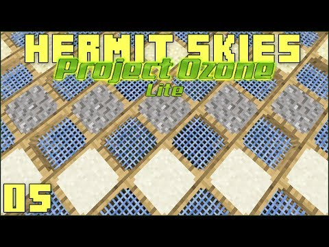 Hermit Skies 05 Automated Sieving! (Project Ozone Lite Skyblock Modded Minecraft)