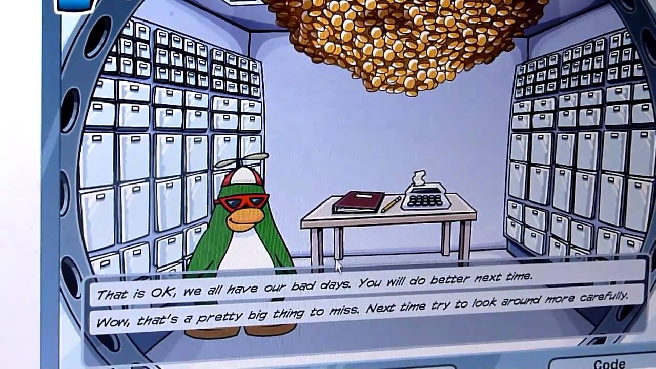 club penguin mission 3 case of the missing coins [ 1280 x 720 Pixel ]