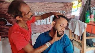 Incredible Manoj Master head massage and neck cracking skills   #IndianMassage