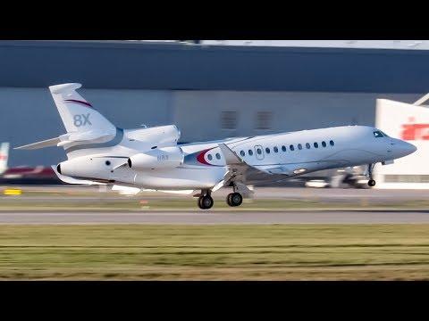*First Falcon 8X in Montreal !!* Dassault Falcon 8X (FA8X) landing in YUL, CYUL