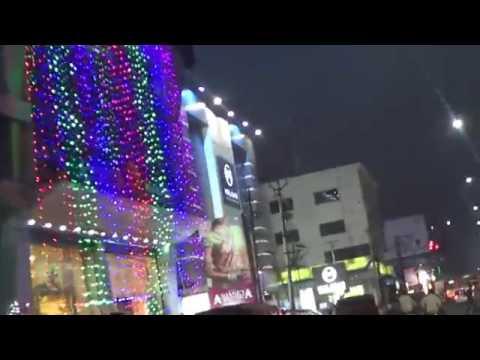 Vijayawada World Class Bandaru Road on Night Time AP Indi