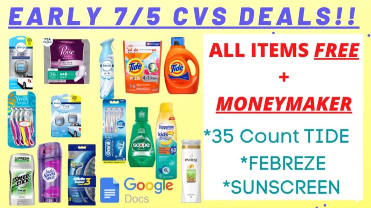 😁EARLY 7/5 CVS Deals 😇 7/5 - 7/11 CVS Couponing This Week 👍 7 MUST DO CVS DEALS +CVS Scenarios 7/5
