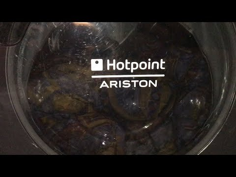 Hotpoint-Ariston AQS81D 29 // Duvet 30° // Overload test // Full cycle