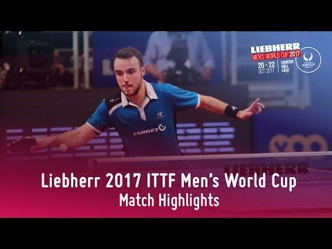2017 Men's World Cup Highlights I Jun Mizutani vs Simon Gauzy (1/4)