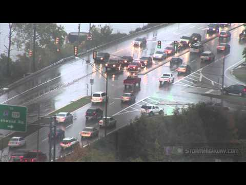 Rush Hour Traffic During Rain - Charleston, WV (HD Stock Footage)