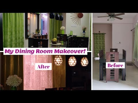 Dining Room Makeover || DIY Dining Room Decorating Ideas || Indian Dining Room Makeover