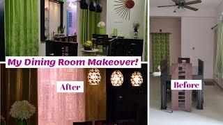 Dining Room Makeover    DIY Dining Room Decorating Ideas    Indian Dining Room Makeover