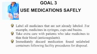 2010 National Patient Safety Goals