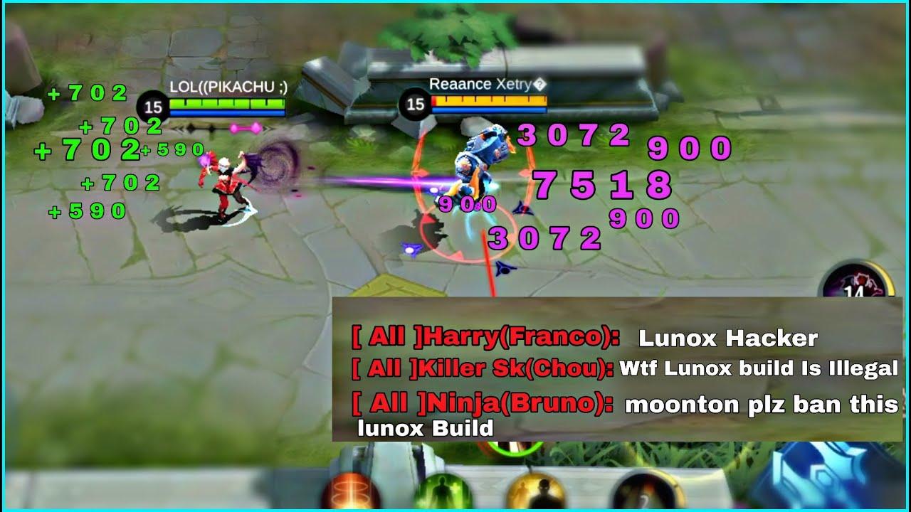 Lunox Best Build Crazy Damage | Top 1 Global Lunox Build | Mobile Legends