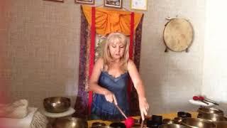 Видеоурок по работе с поющей чашей и массаж. 1 часть.