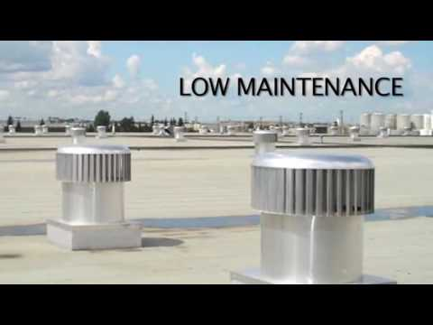 Wind Powered Commercial Ventilation Exhaust Turbines
