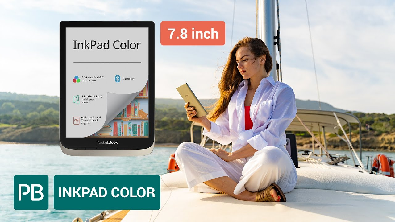 PocketBook InkPad Color - the first 7.8-inch e-reader with color E Ink new Kaleido™ screen