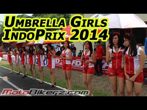Daya tarik Umbrella Girls KYT Indoprix 2014