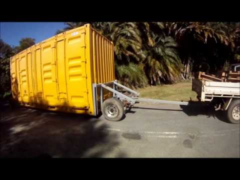 Shipping Container Trailer >> Shipping Container Becomes Trailer Youtube