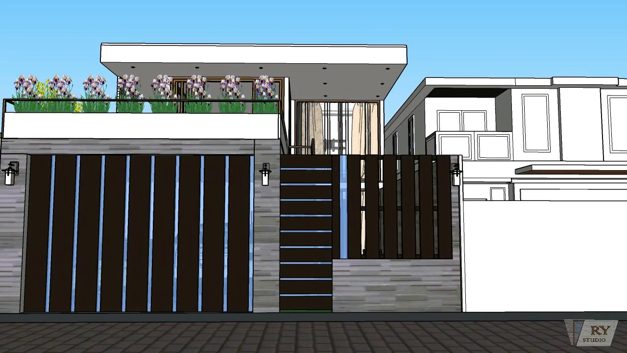 Desain Rumah Kontemporer Dua Lantai Di Lahan 8 X 18 M2 Youtube