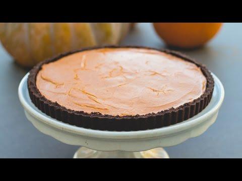 Pumpkin Tart (Chocolate Graham Cracker Crust)