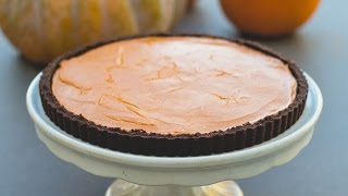 Pumpkin Tart (chocolate Graham Cracker Crust)