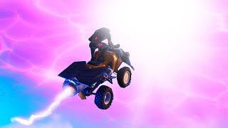 FLYING to the CUBE PORTAL in Fortnite! (The Portal Opened!)