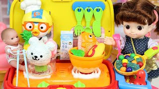 Baby doll Kitchen cooking toys 콩순이 주방놀이 푸드카 장난감