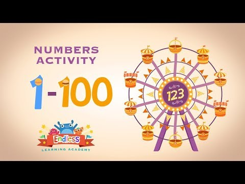 Learn Number From One to Hundred 1 - 100 in English Endless Numbers