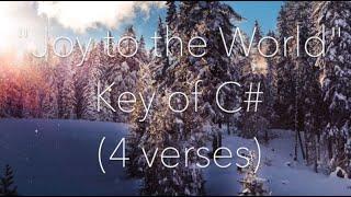 Joy to the World   Piano Instrumental with Lyrics
