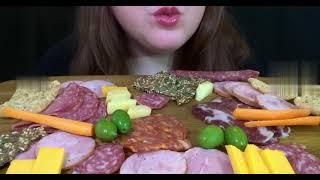 ASMR  MUKBANG  Meat, Cheese, P…