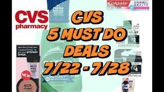 Video 5 MUST DO CVS DEALS 7/22 - 7/28 | Grab 7 items for only $3.33! download MP3, 3GP, MP4, WEBM, AVI, FLV Juli 2018