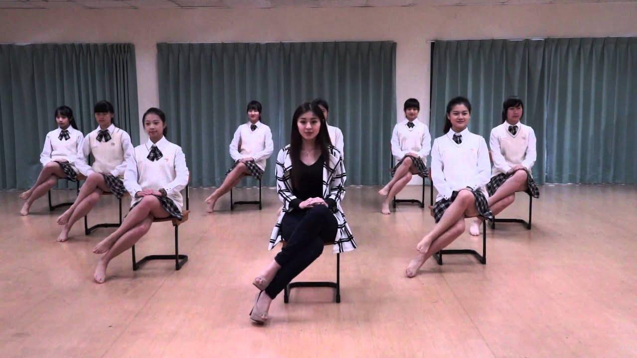 坐姿 / 術科適性鑑別示範 / 青年高中時尚造型科