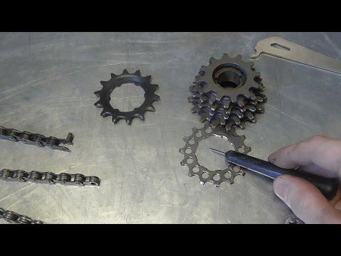 Видео Смазка, чистка, выжимка цепи велосипеда. Как определить износ цепи велосипеда