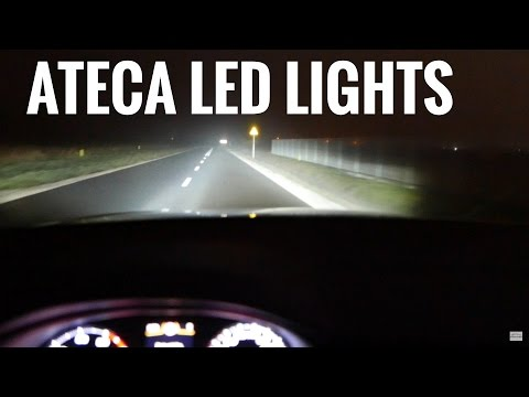 2017 SEAT ATECA Led Lights MEGA TEST 2 [Jazda Testowa] Próbn