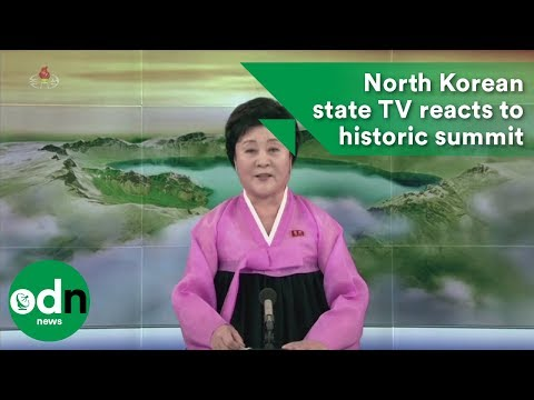 North Korean state TV reacts to historic summit