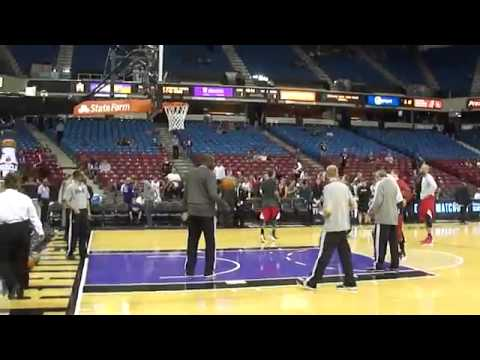 Chicago Bulls Derrick Rose Working Out Before Sacramento Kings Game