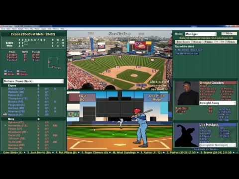2016 Baseball Mogul Replay 1986 Season Game Expos vs Mets