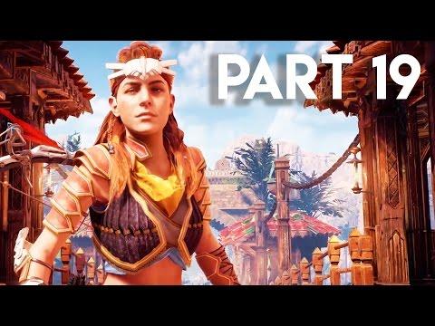 Horizon Zero Dawn Walkthrough Gameplay Part 19 - The HUGE City (PS4 PRO Gameplay)