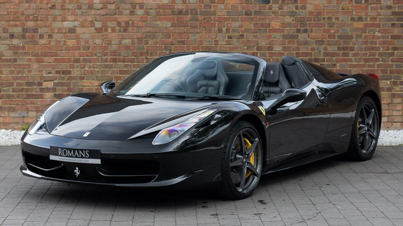 2014 Ferrari 458 Spider Nero Daytona Walkaround Interior Exhaust Sound High Quality Youtube