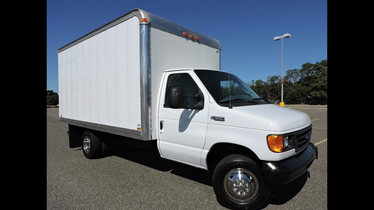 04 Ford E350 Van Cutaway 14ft Box Truck For Sale In Long